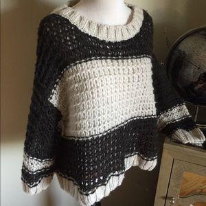 Free People oversized sweater knit alpaca blend S